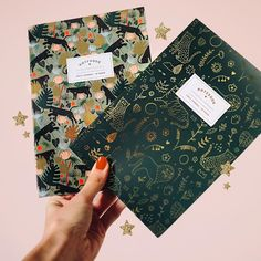 Would you like some Tuesday evening inspiration? Well here it is! These foiled notebooks by Laura Lhuillier are incredible and the way they are shot is pretty special too. We love the little extra details.