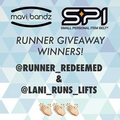Lucky ducks@RUNNER_REDEEMED and @LANI_RUNS_LIFTS won a Reflective Running @MaviBandz and a Limited Edition @SPIbelt. Didnt win? Get your Limited Edition Rip Tide or Lanai now before they are gone.