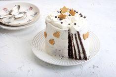 Τούρτα ριγέ χωρίς ζάχαρη και χωρίς γλουτένη από την Αργυρώ Μπαρμπαρίγου! Sweets Recipes, Desserts, Food Categories, Mini Cakes, Vegan Gluten Free, Food Hacks, Birthdays, Pudding, Favorite Recipes