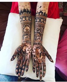 Searching for New Bridal mehndi designs is a hectic task that every bride-to-be has to do before her wedding. Choosing from a pool of just a few Bridal mehndi designs is just not thinkable these days. Wedding Henna Designs, Engagement Mehndi Designs, Latest Bridal Mehndi Designs, Full Hand Mehndi Designs, Mehndi Designs 2018, Mehndi Designs For Girls, Dulhan Mehndi Designs, Henna Mehndi, Mehndi Design For Bridal