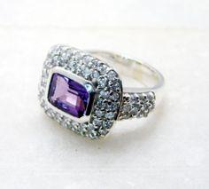 #Amethyst Gems Stones 925 Silver Posie #Ring #Jewellery Sz 6 SRAME6 0208 | eBay