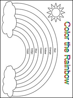 Customize your free printable color the rainbow kindergarten worksheet learning in preschool and educational worksheets for . Printable Preschool Worksheets, Free Kindergarten Worksheets, Kindergarten Learning, Preschool Learning Activities, Free Preschool, Kindergarten Coloring Pages, Rainbow Crafts Preschool, Preschool Forms, Preschool Charts