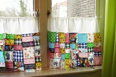colorful patchwork curtains
