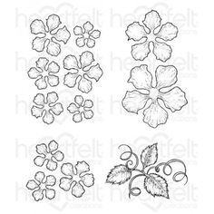 Classic Rose Cling Stamp Set