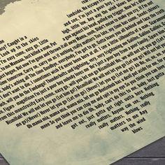 Bohemian Rhapsody Print, Freddie Mercury Wall Art, Lyrics Wall Art, Queen Classic Rock Wall Art Print.