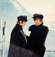 Beatles - Ringo and John during the filming of 'Help'