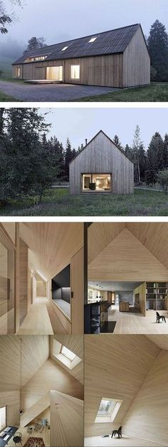 Haus am Moor - Austria This Bernardo Bader designed private home boasts beauty and elegance through simplicity. An exterior reminiscent of Scandinavian barns and a minimalist interior combine to create a unique and understated home.