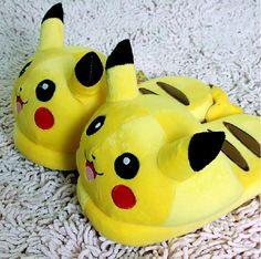 New-2014-font-b-Nintendo-b-font-Pokemon-Pikachu-11-Adult-Plush-Slipper-1-Pair-Anime