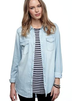 chambray over stripes