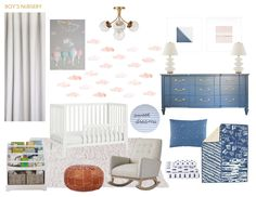 An Intro to a Nursery at Grandma's House + Shop The Looks - Emily Henderson Childrens Twin Beds, Mood Board Interior, Bringing Baby Home, Travel Nursery, Nursery Inspiration, Decorating Small Spaces, Kid Spaces, Girl Nursery, Baby Room