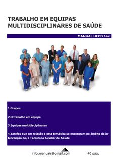 ufcd 6561. Trabalho em equipas multidisciplinares de saúde