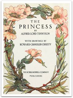 The Princess illustrated by Howard Chandler Christy 1911 - Title Page to book pinned Book Cover Art, Book Cover Design, Book Design, Book Art, Illustration Inspiration, Book Illustration, Botanical Illustration, Vintage Book Covers, Vintage Books