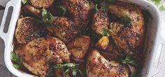 Roast Chicken Thighs With Garlic, Lemon & Herbs