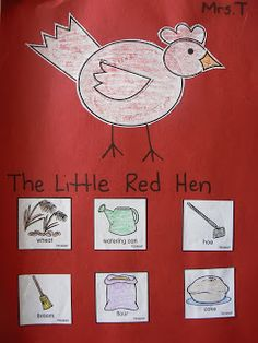 ****Amazing Blog with awesome ideas to go along with great stories The Little Red Hen Sequencing Activity