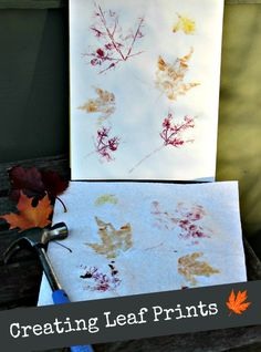 Easy tutorial on making leaf prints -- great fall craft for kids! Also a great nature/science project.