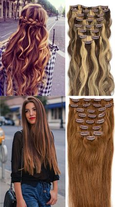 Long Beautiful Hair Extensions! Easy way to get a New + Thicker Hairstyle Instantly!