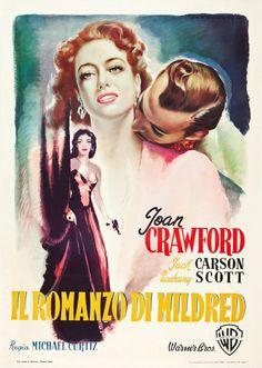 Italian poster #MildredPierce (1945) dir. Curtiz #JoanCrawford