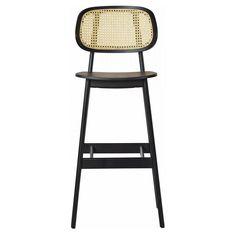 Cane Wood Restaurant Bar Stool Restaurant Bar Stools, Woods Restaurant, Tall Stools, Wood Bar Stools, Bar Counter, Counter Stools, Island Stools, Kitchen Island, Cane Back Chairs