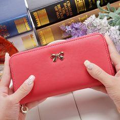 2016 New Vintage Women wallet female  PU leather  long design women wallet Purse card wallet phone 8 Colors