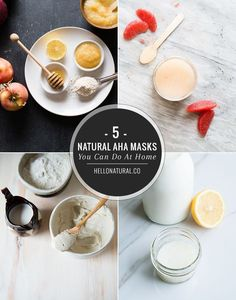 Don't waste money on fancy creams! Instead make one of these 5 AHA face masks with a few fresh ingredients at home.