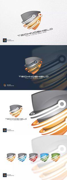 Techno Shield - Logo Template AI, EPS