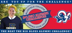 Don't let this happen! Don't make President David Olive wear BSC gold and blue! That's exactly what's going to happen, if we don't get more gifts from Bluefield College alumni. In fact, BC alumni trail Bluefield State alumni 134-77 in gifts to the BC-BSC Alumni Challenge. The losing president must wear the opponent's school colors at tonight's Basketball Classic of the Bluefields. Just hours remain before today's noon deadline. Give an online gift right away…