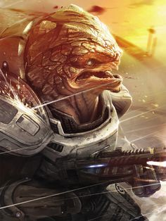 Mass Effect Concept Art // Grunt