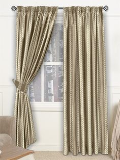 Laurea Brushed Gold Curtains from Curtains 2go
