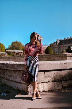 #ThássiaemParis: Look Stripes!
