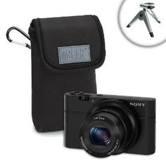 Dura-Neoprene Digital Camera Carrying Case with Belt Clip and Miniature Tripod for Sony Cyber-shot DSC RX100 , HX30V , HX20V and Many More Sony Compact Cameras by Accessory Genie. $9.99. USA Gear FlexARMOR DuraNeoprene Carrying CaseConstant DefenseThe FlexArmor series features high-density Neoprene material designed to comfortably store and protect your device. The flexible fabric fits like a glove, snugly conforming to your gadget's shape for that perfect fit. The...