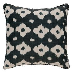 Black Fiore Ikat Pillow Madeline Weinrib Obsession