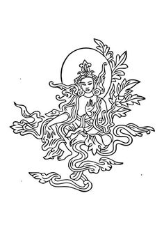 Coloring page Buddist image - coloring picture Buddist image. Free coloring sheets to print and download. Images for schools and education - teaching materials. Img 10997.