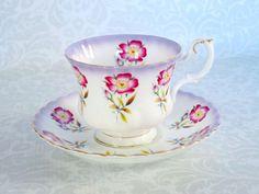 Vintage Royal Albert Tea Cup and Saucer / Vintage Royal Albert Pansy Pattern…