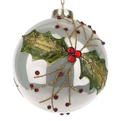 Holly & Berries Ornament