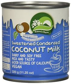 Nature S Charm Sweetned Condensed Coconut Milk 11 25 Oun Https Www Amazon Com Dp B00x Condensed Coconut Milk Coconut Milk Recipes Dairy Free Alternatives