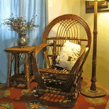 Handcrafted American-made Willow Twig Furniture.  Visit us at www.LogCabinRustics.com to buy this Willow Chair and other fine rustic furniture.