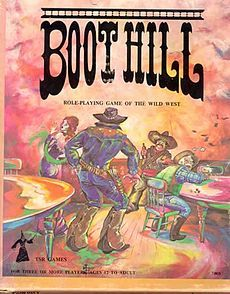 BootHill.jpg Purchased at the same time as Gamma World. Essentially just a scale combat game with no real role-playing mechanics. Later editions fixed this.