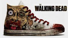 Converse All Star, edición especial The Walking Dead  #series #tv #calzado #zombi #branding #historia #diseño