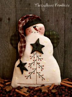 Primitive Christmas Snowman