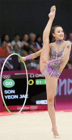 Son Yeon-jae, south korean rhythmic gymnast.