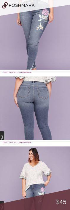 6110bd1bd1 NWT Lane Bryant skinny jean high-rise skinny jean in medium wash denim with  a