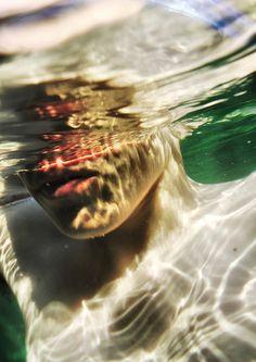 40-Dafne, invece, sentì crescere dentro di sé una sconcertante avversione nei suoi confronti. Ignaro di essere osservato, Apollo si diede una spinta e saltò estendendo le braccia verso l'esterno per poi unirle al di sopra della testa. Acquisendo in volo lo stesso aspetto scintillante di una freccia, si tuffò nello stagno senza quasi far increspare la superficie.Riemerse poco dopo con il sole alle spalle, schizzando l'acqua verso l'alto mentre gettava i capelli all'indietro.
