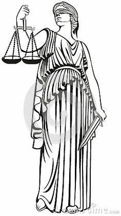 Justice Déesse grecque Themis égalité Procès équitable loi