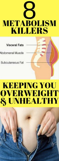 If you are struggling to get rid of the belly fat then, that means you are killing your metabolism.We will present you the 8 metabolism killers that slow down your weight loss process.