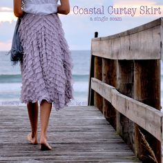 Coastal Curtsy Skirt Tutorial - Very fun fabric and super simple pattern!