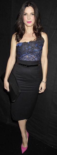 Sandra Bullock'    Dress – Vera Wang    Shoes – Jimmy Choo
