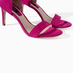 Image 4 of HIGH HEEL SHOES WITH SINGLE STRAP from Zara