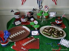 Superbowl party + printables