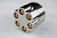 """2"""" Aluminum 3 Piece Revolver Bullet Weed Grinder --- http://www.amazon.com/gp/product/B001CTF1XE/ref=as_li_ss_tl?ie=UTF8&camp=1789&creative=390957&creativeASIN=B001CTF1XE&linkCode=as2&tag=420life-20"""