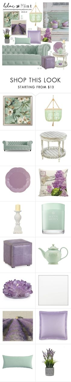 """Color Challenge: Lilac & Mint"" by palmtreesandpompoms ❤ liked on Polyvore featuring interior, interiors, interior design, home, home decor, interior decorating, Ro Sham Beaux, Joybird Furniture, Lenox and Molton Brown"